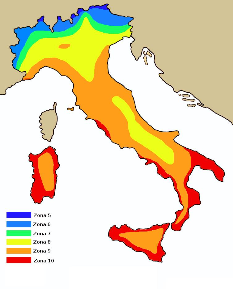 Risultati immagini per italian hardiness zone